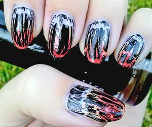 black, candy corn, and crackle image