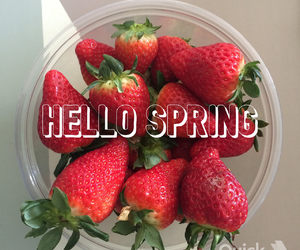 fruit, red, and spring image