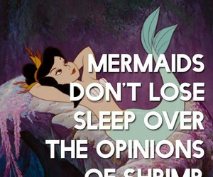 mermaid, quotes, and girl image