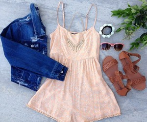 outfit, romper, and summer image