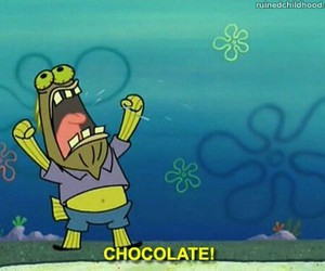 chocolate, spongebob, and food image