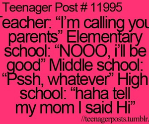 funny, school, and teenager image
