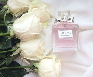 flowers, perfume, and roses image