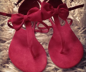 fashion, red, and sandals image