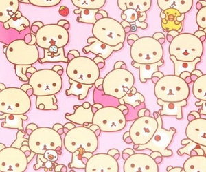baby girl, bears, and pastel image