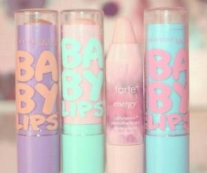 baby lips, makeup, and lips image