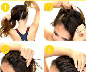 hair, tutorial, and braid image