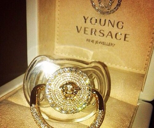 Versace, baby, and gold image