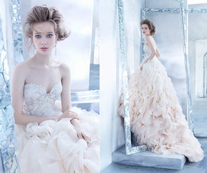 wedding dress, bride, and lazaro image