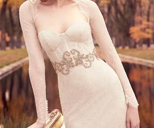 wedding, bride, and wedding dress image
