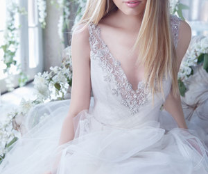 alvina valenta, wedding, and wedding dress image