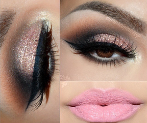 makeup, fashion, and pink image