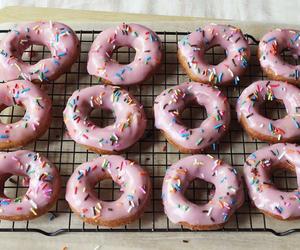 donuts, doughnuts, and pink image