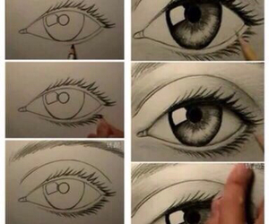 eye, drawing, and draw image