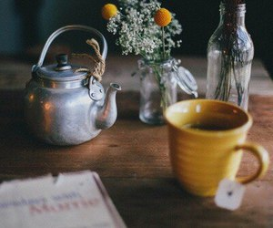 tea, flowers, and vintage image