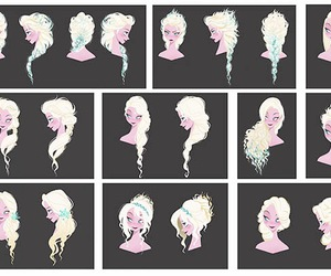 frozen, elsa, and hair image