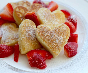 strawberry, FRUiTS, and pancakes image