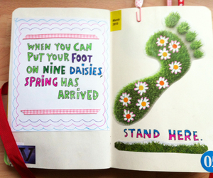 Collage, foot, and spring image