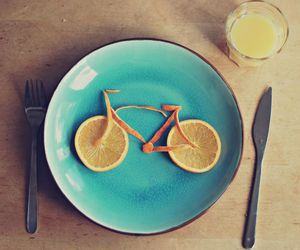 orange, food, and bike image