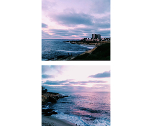 blue, pink, and sea image