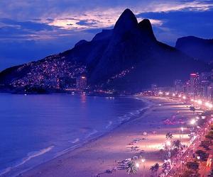 beach, light, and night image