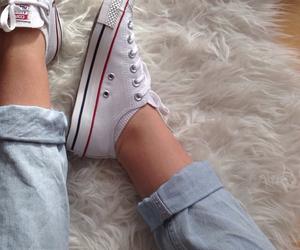 boyfriend jeans, converse, and edge image