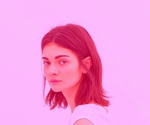 pink, girl, and indie image