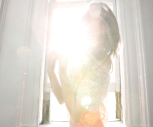 girl, sequins, and sun image