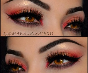 flawless, makeup, and orange image