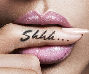 lips, shhh, and rihanna image