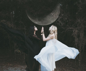 witch, moon, and magic image