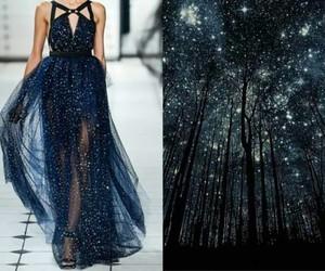 dress, stars, and night image