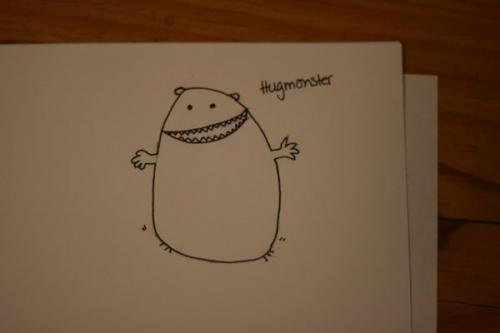 cartoon, draw, and hug image