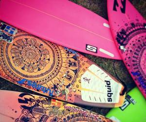 surf, pink, and summer image
