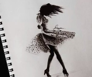 beauty, drawing, and girl image