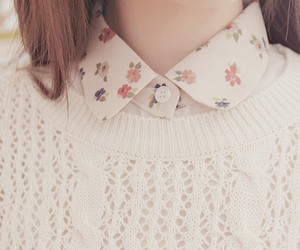 fashion, flowers, and sweater image