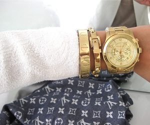 fashion, LV, and gold image