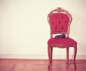 headset, red velvet, and rococco chair image