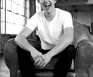 ansel elgort, smile, and augustus waters image