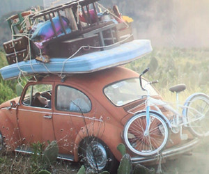 travel, car, and vintage image