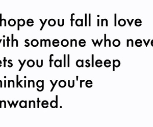 love, unwanted, and quote image