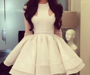 dress, white, and girly image