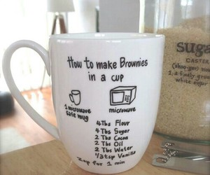 diy, cup, and brownies image