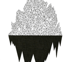black and white, cool, and geometric image