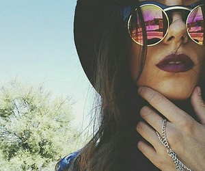 girl, sunglasses, and lips image