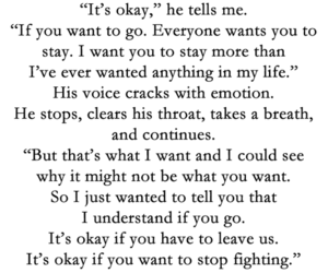 if i stay, quote, and sad image