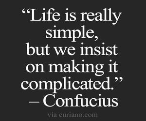 confucius, life, and quote image