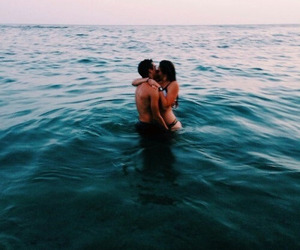 ocean, couple, and cute image