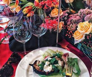 dinner, food, and girl image