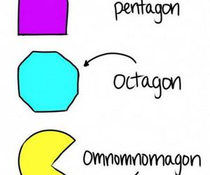 hipster, pacman, and text image